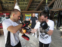 Training in der Boxscheune