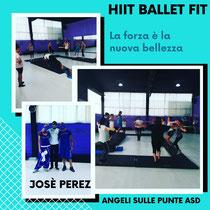 Il Maestro José Perez tiene regolarmente lezioni da noi, la seconda domenica del mese di Hiit ballet fit. Allenamento di grande lavoro aerobico e di tonificazione per rimettersi in forma. Aperto anche agli esterni ad Angeli sulle punte asd