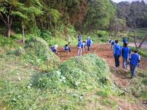 積水ハウス 被災地社員研修 開墾