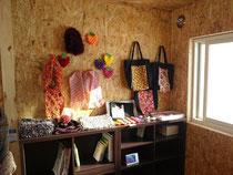仮設住宅婦人会の物販