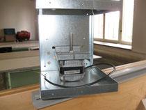 Ventilatoreinbau in Gehäuse für Heizanlage