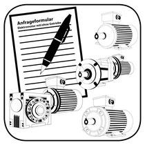 Anfrageformular Icon für Elektromotor und Getriebe