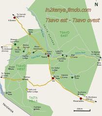 tsavo est mappa kenya parchi in2kenya