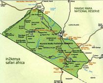 masai mara, migrazione, in2kenya, safari, kenya, masai mara mappa