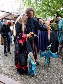 Anne und Ragnar mit Cassi und Plumpi