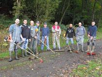 Les parents d'élèves de l'école Sainte-Anne ont préparé les circuits du trail.