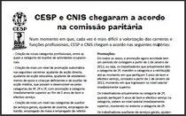 CESP e CNIS chegaram a acordo na comissão paritária