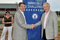 Yann Ohier Diapason Immobilier & Paul Minssieux Maire de Brignais
