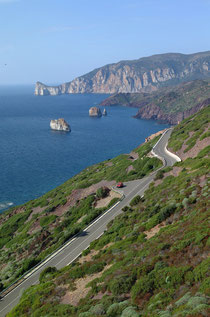 Panoramic road along the south west coast