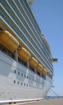 Cruise ship in Cagliari
