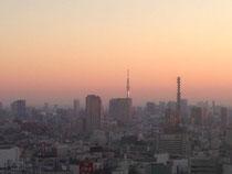 初日の出に輝く東京スカイツリー