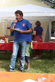 Tobias Brändle bei der Begrüßung