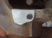Stub axle cleaned up with plate