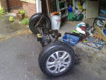 Back axle assembly as it came off the Sierra