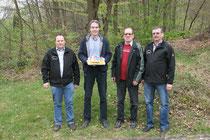 Von links: Sven Schacht, Guido Kaumanns, Peter Heinz und Rainer Müller