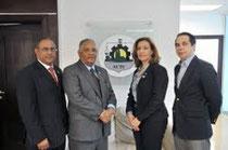 José Octavio Pérez, Rafael Pérez Modesto, Arisleida Tineo y Sandy Filpo