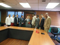 Dirigentes de la JRSC presentes en la reunión