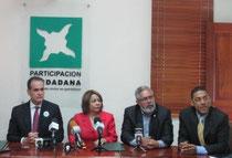De izquierda a derecha, Nelson Espinal Báez, Sonia Díaz Inoa, José Ceballos y Ormandy Santana (Foto externa)