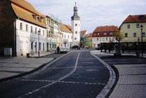 Markt - Blick zum Rathaus
