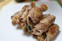 味噌と大葉の豚肉巻き