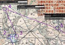 明治時代の古地図を使ってオリエンテーリング