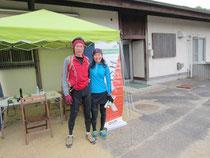 ゴール直後の村越&田島 40km走った