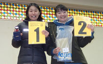 女子チャンピオンとなった田島と2位の渡辺選手