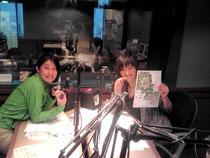 NACK5のスタジオにて、パーソナリティーの和可菜さんと