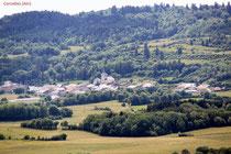 Une vue du village de Corcelles
