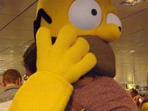 Homer und das Haarbüschel alias mich