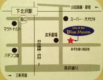 map : 下北沢 Blue Moon