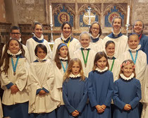 Our Head Choristers with their Dean's Awards in Southwark Cathedral
