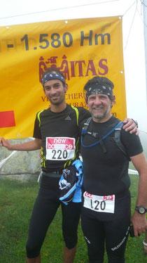 Manuel und Martin beim Ziel