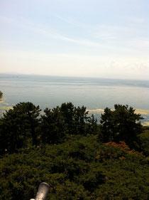 長浜城天守からの琵琶湖