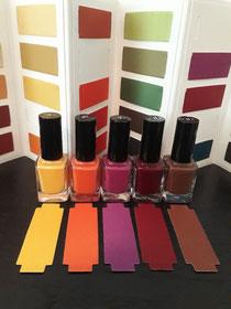 Op zoek naar de juiste kleur nagellak