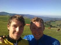 In der Trainingsphase mit Franz Höfer (Österreich Triathlon Profi)
