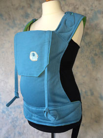 Full buckle baby carrier, blue