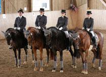 Sieger des Quadrille-Championats Baden-Württemberg