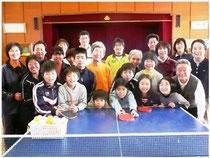【人気ナンバーワンの定期活動「卓球」毎日曜日午前活動】