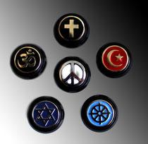 Die 5 Weltreligionen im Kontext mit Peace