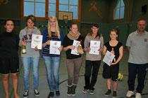 Spielführerinnen der fünf Damen- mannschaften
