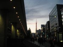 東京での一日、夕暮れ時