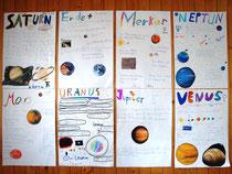 Die Schüler erarbeiteten vor- und nach der Präsentation Themen-Poster zu den Planeten des Sonnensystems