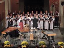 Klangtrilogie Minoriten, Wels. Mit Marianne Gesswagner und Herbert Scheiböck sowie dem Singkreis Steinhaus