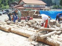 薪作りイベント風景