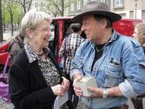 Petra Merkel und Gunter Demnig