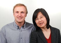 Wolfgang Gastner (l), CTO, and Janet Mo, CEO of Zentron Consulting OG