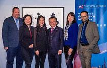 V. l. n. r.: Bernhard Müller, Janet Mo, Hongge Zhang, Georg Zanger, Veronika Ettinger, Alexander Kleedorfer