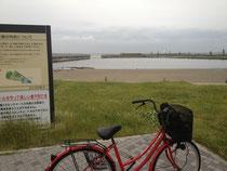 砂浜と自転車