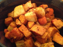 Moroccan Roasted Root Veggies